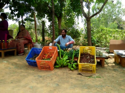 The start of the organic market in Bangalore (1)