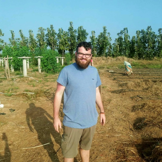 first volunteer on the farm